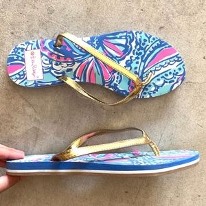 Lilly Pulitzer Target Seashells Pattern Slippers
